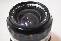 """SUPER RARE"" Nippon Kogaku Ai Nikkor-N Auto 24mm F2.8 Lens From Japan"