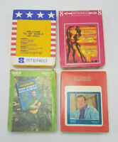 Lot of 4 Eddy Arnold 8 Track Tapes w Sleeves