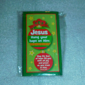 Christmas Candy Cane Present Gift Tag Jesus Hang Hope Him Cards Religious 22
