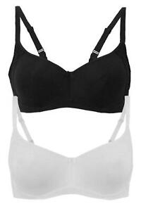 New Ex M&S Cool Comfort Cotton Rich Smooth U/Wired Full Cup Bra Sizes 34-42 A-E