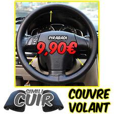 COUVRE VOLANT DE VOITURE CUIR NOIR POSE SUPER FACILE PRET A POSER FACILE 37/38CM