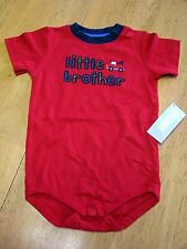 NWT GYMBOREE LITTLE BROTHER TOW TRUCK RED BODYSUIT 18-24 MO Free US Shipping