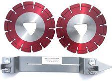 "2PK-6"" Husqvarna Soff Cut Diamond Blade w/1Skid Plate Asphalt Green Concret-BEST"