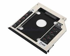 2nd HDD SSD Hard Drive Caddy + Ejector Bezel for Dell Latitude E6440 E6540 M2800