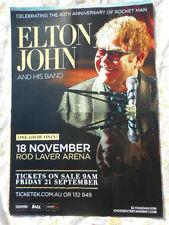 ELTON JOHN & BAND NOVEMBER 200?  ROD LAVER ARENA AUSTRALIAN TOUR POSTER  MINT
