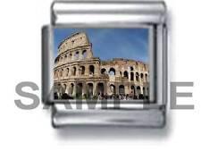 COLOSSEUM ROME ITALY 9MM ITALIAN CHARM LINK travel roman vacation holiday