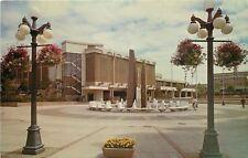 Victoria BC~Centennial Square Fountain~1950s Postcard