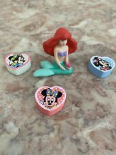 New listing Vintage Disney Erasers Lot - Mini Mouse And 3D Ariel