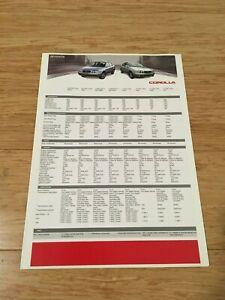 Toyota Corolla Brochure Australia 2001