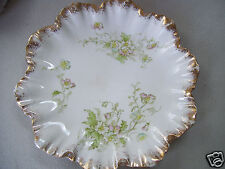 "Designer Signed Gold & Floral Decorated 6 1/2"" Collector Plate Good Condition"