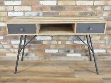 INDUSTRIAL COUNTRY RUSTIC WOOD METAL DESK CONSOLE TABLE (DX4824)