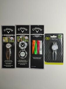 Callaway Lot of Golf Accessories 3 Pack Marker Hat Clip Poker Chips Divot Tool