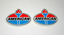 2 Vintage American Oil & Gas Co. Racing Classic Logo Patch New NOS 1970s Amoco
