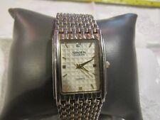 Gruen Gold Watch with Diamond on 12 O'clock hour Quartz Movement F64