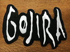 Gojira Sew Iron On Patch Logo Music Rock Band Heavy Metal Embroidered Jacket