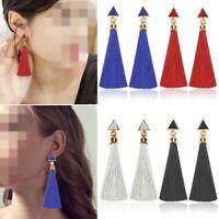 New Long Tassel Earrings Dangle Long Drop Tassle Fringe Trendy Fashion