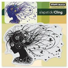 PENNY BLACK RUBBER STAMPS SLAPSTICK CLING WISTFUL NEW cling STAMP