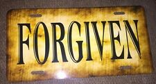 Forgiven License Plate Country Tag Custom New Tag Metal Any Wording Available