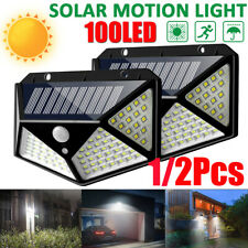 100LED Solar Powered Light Outdoor PIR Motion Sensor Garden Security Wall Lamp