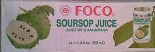 SOURSOP JUICE, 24 CANS x 350ml FOCO DRINK, Jugo De Guanabana [1 CASE]