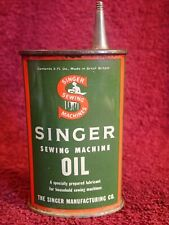 1 ) NICE ANTIQUE VINTAGE SINGER SEWING MACHINE OILER LUBRICANT TIN CAN