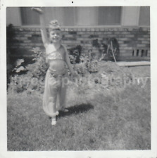 I DREAM OF JEANNIE Little Girl COSTUME Found Photograph bw FREE SHIPPING  81 16