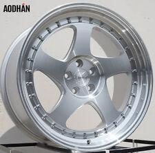 18X9.5 +12 Aodhan Ah01 5X114.3 Silver Wheel Fit WRX STI G35 G37 350Z 370Z 5X4.5