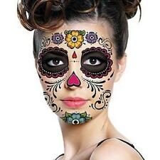 Unique  Day Of The Dead Dia de los Muertos Face Mask SUGAR SKULL TATTOO bdu