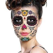 Day Of The Dead Dia de los Muertos Face Mask SUGAR SKULL TATTOO Beauty