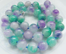 """Jade Gemstone Necklace 18"""" New 10mm Natural Noble New"""