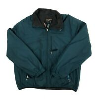 Vintage LL Bean Men's Green Fleece lined Insulated Windbreaker Jacket Sz. Large