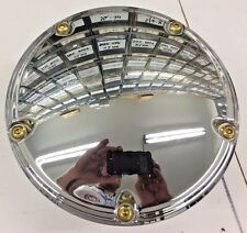 5 HOLE CHROME DOME BRASS BUTTON CLUTCH COVER 99 up twin cam harley hd derby big