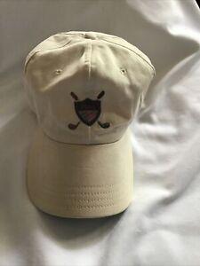 Vintage Polo Ralph Lauren Golf Crest Hat Cap Tartan Shield Criss Cross Clubs VTG