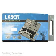 Laser Swivel Head Riveter Set In Plastic Case For Nut, Bolt & Standard Rivets
