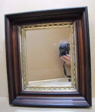 Antique Framed Mirror Deep Thick Wooden Frame Ornate Gold Detailed