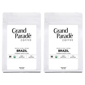 Organic Brazilian Medium Roast Coffee Beans, Fresh Roasted Daily, 2 - 1 lbs Bags