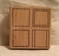 JRL Design Q243 Four Square Fill-In Stamp Wood