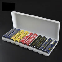 10 Grids Storage Case Cover Box Organizer Holder For 10 18650 Battery Hot