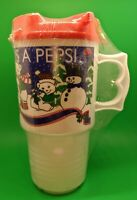 """Vintage Pepsi """"Nothing Else Is A Pepsi"""" AutoMug New Never Used Snowmen Christmas"""