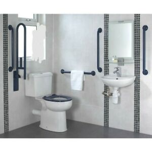 Armitage Shanks Doc M Pack with Close Coupled Toilet and Blue Rail -RPR £683