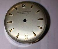 Girard Perregaux Gyromatic Dial, Silver Satin / Gold  Markers ~~