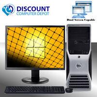 """Dell Precision 390 Windows 10 Pro Workstation Core 2 Duo 2.0 8GB 500GB 19"""" LCD"""