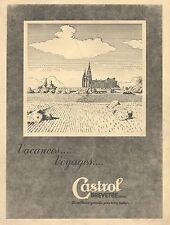 J0986 CASTROL - Illustrazione - Pubblicità grande formato - 1937 Old advertising