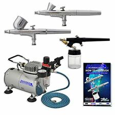 Master Airbrush Multi-purpose Professional Airbrushing System with 3 Airbrushes,