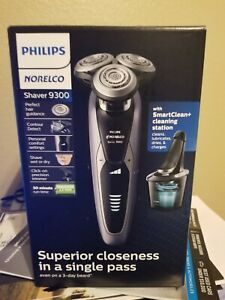 Philips Norelco 9300 Wet/Dry Electric Shaver w/ Clean Charging System | S9311/84