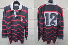 VINTAGE Maillot rugby porté STADE TOULOUSAIN Toulouse match worn shirt année 80