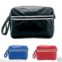 RETRO MESSENGER LARGE SCHOOL WORK SHOULDER BAG MENS BOYS WOMENS GIRLS NEW