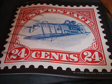 """1918 Inverted Jenny Airmail 17"""" x 19"""" Print (Upside Down, Stamp Collector, Rare)"""
