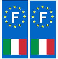 stickers autocollants plaques immatriculation auto Département Italie F