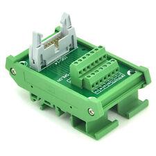 IDC-14 DIN Rail Mounted Interface Module, Breakout Board, Terminal Block.
